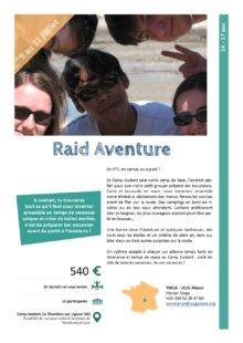 Séjours Jeunes : Raid Aventure