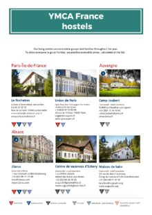 YMCA hostels in France