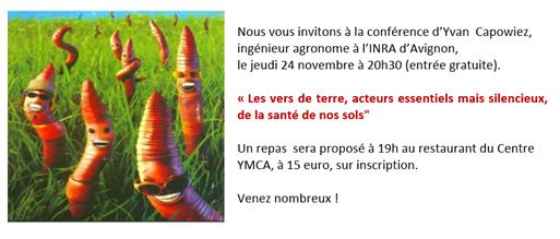 YMCA de Villeneuve-lez-Avignon organise deux conférences liées au développement durable