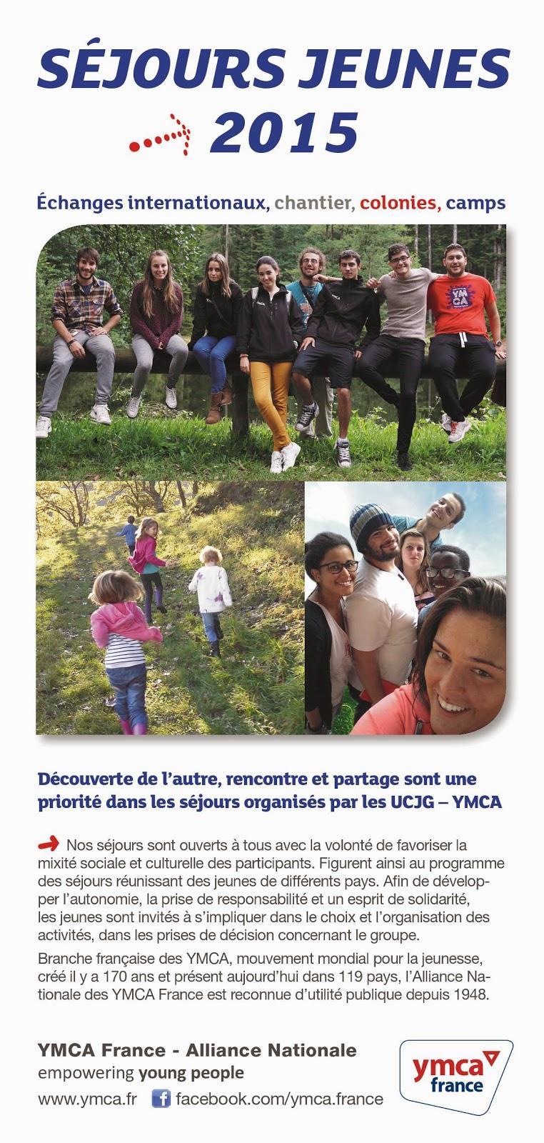 Brochure Séjours jeunes 2015