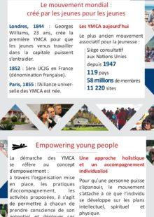 Flyer présentation YMCA France (français et anglais)