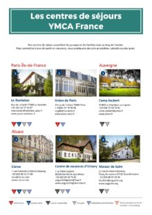 Liste des centres de séjours