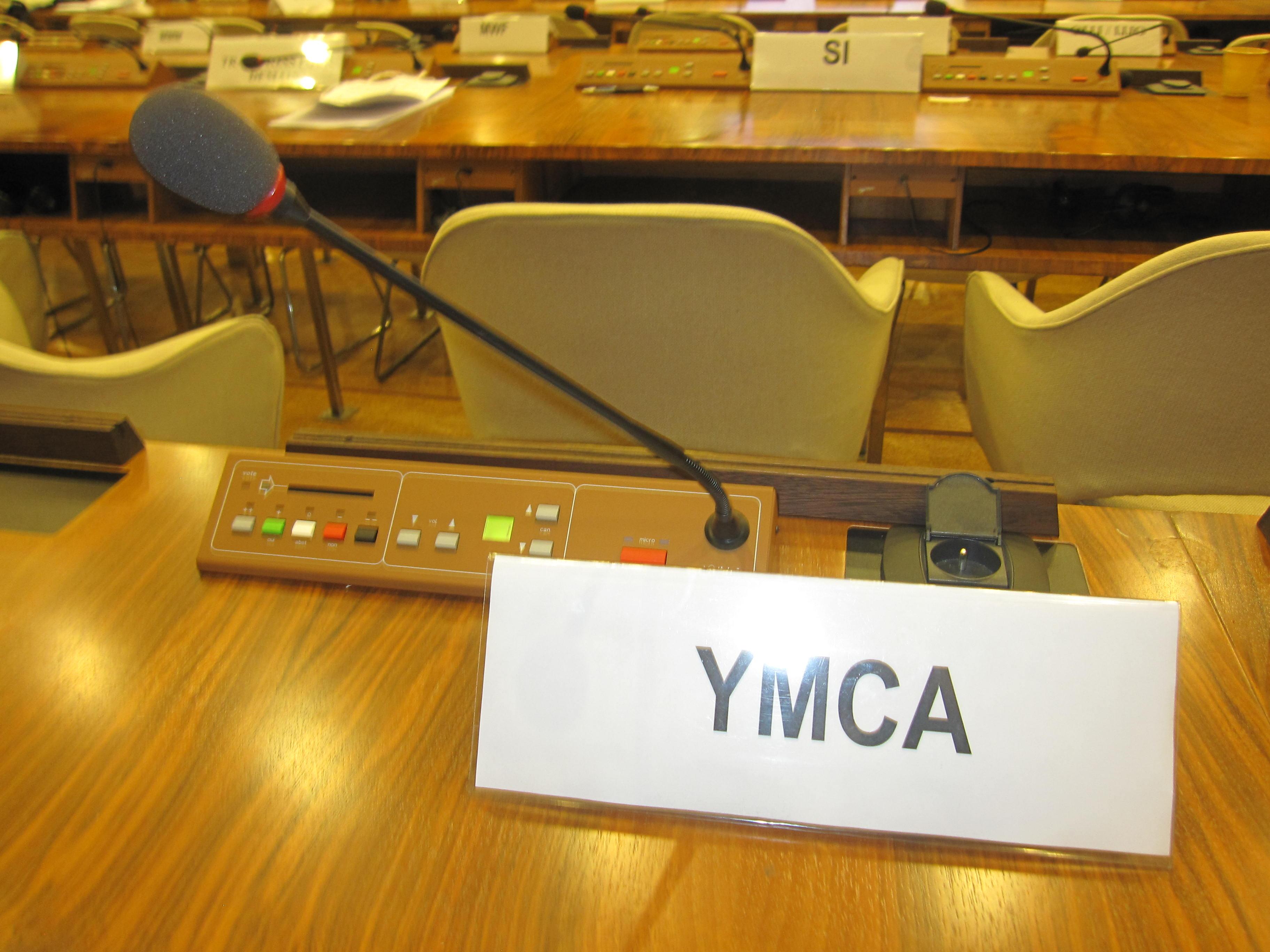 Les YMCA à l'UNESCO
