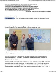 Article presse la Manche Llibre : le Core accueille des migrants