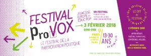 Jeunesse, Europe et Educ Pop', campagne Provox