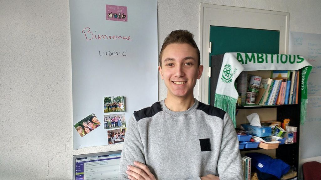 Ludovic Lefieux, nouveau volontaire YMCA Alsace