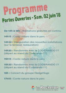 Le Rocheton, portes ouvertes samedi 02 juin 2018