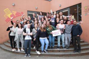 Jeunes de la Leadership Academy YMCA à Paris
