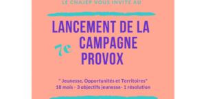 Lancement de la 7ème campagne Provox du Cnajep