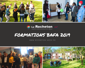 Formations BAFA au Rocheton, sessions de fin 2019